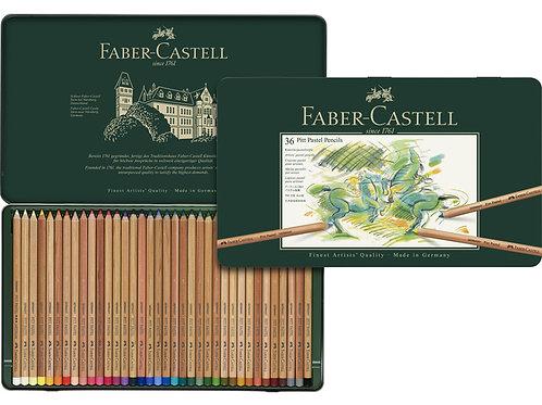 pastelpotlood Faber-Castell Pitt metalen etui a 36 stuks