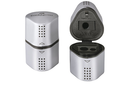 Faber-Castell puntenslijper GRIP 2001 Trio zilver