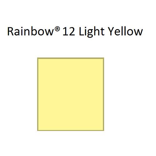 Rainbow® 12 Light Yellow A4