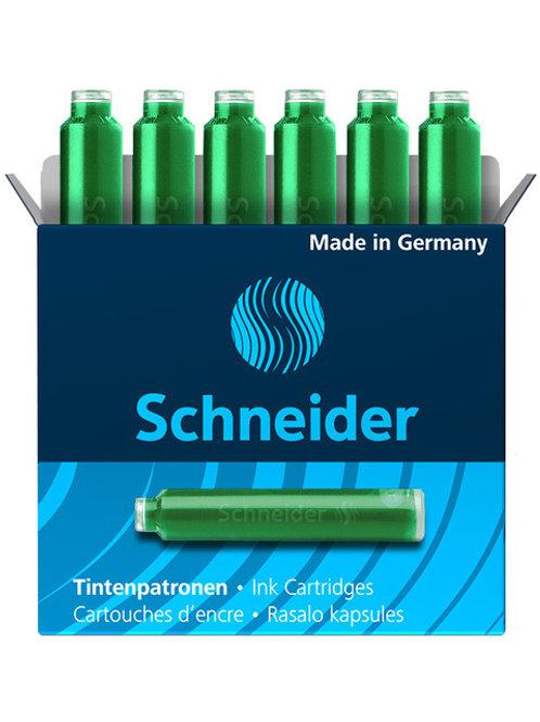 Schneider inktpatronen doos a 6 stuks groen