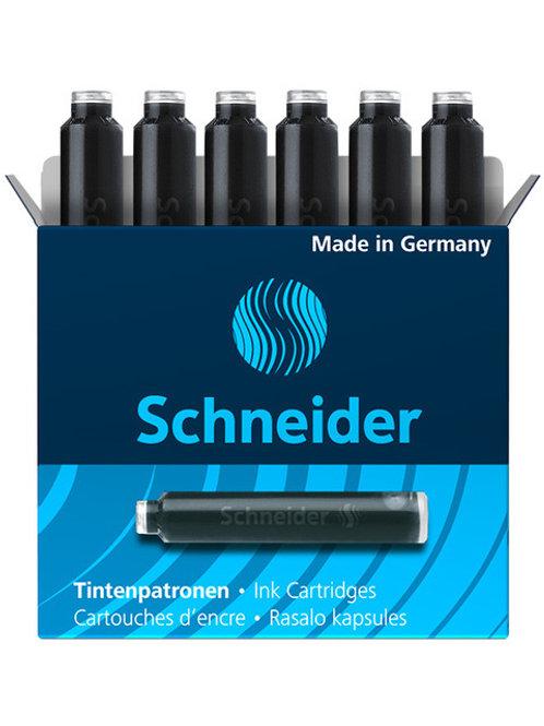 Schneider inktpatronen doos a 6 stuks zwart