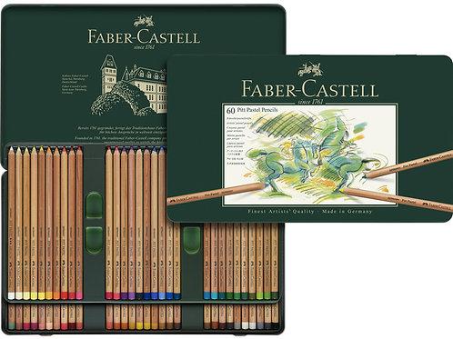 pastelpotlood Faber-Castell Pitt metalen etui a 60 stuks