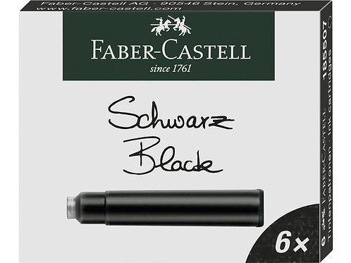 Faber castell inktpatronen zwart doosje a 6 stuks