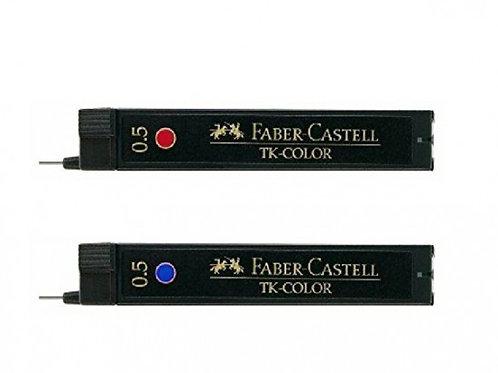 Faber Castell  Potloodstiften 0.5mm Blauw en Rood
