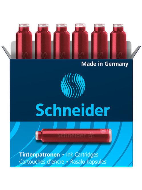 Schneider inktpatronen doos a 6 stuks rood