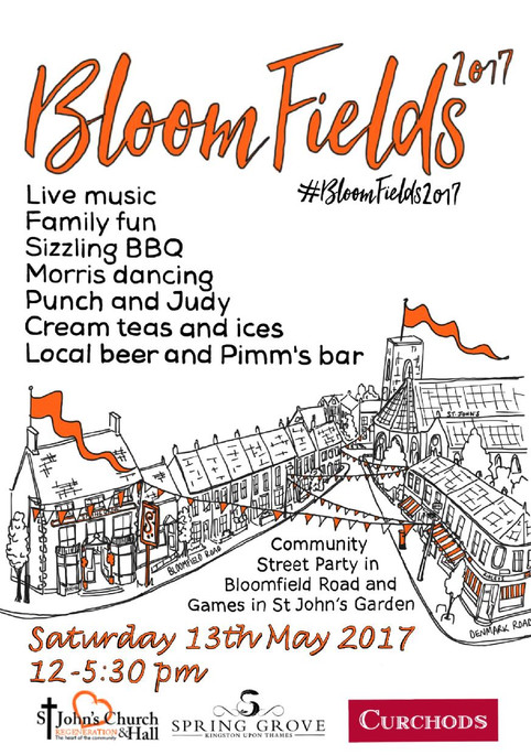 #BloomFields2017                                   This Saturday 13th May, its street party time in