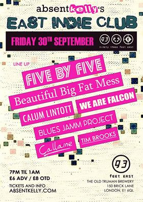 30th September @ the absentkelly's East Indie Club