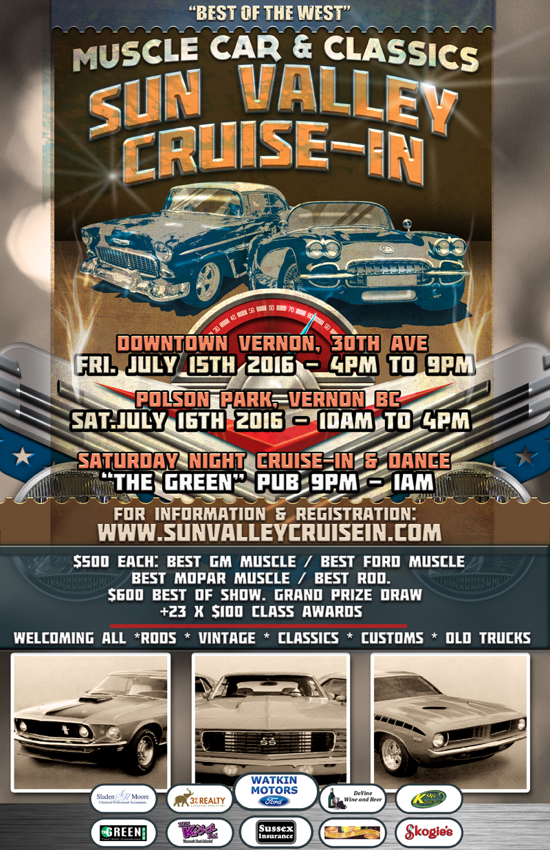 Best of the West car show poster
