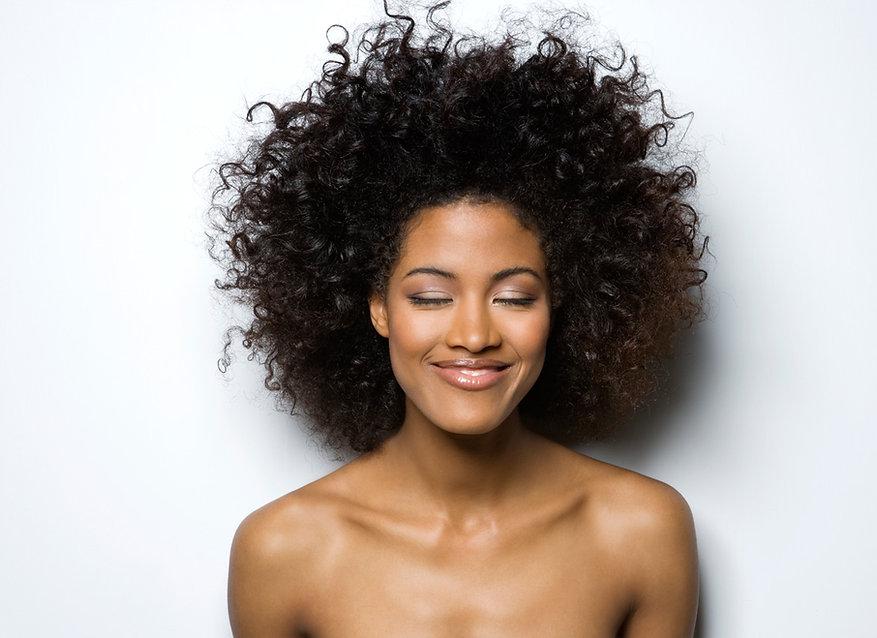 St Louis natural hair stylist. Silk press
