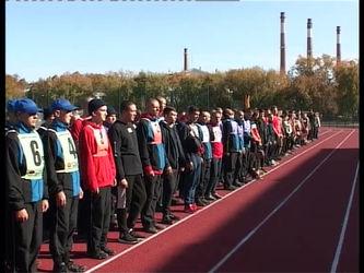 На городском стадионе состоялась традиционная ежегодная военизированная эстафета