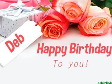 Happy Birthday Deb