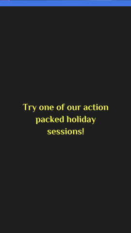 Holiday Sessions @ WBGC