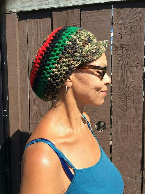 UNISEX - Crowned Dreadlock Tam with Brim - THICK LOCS