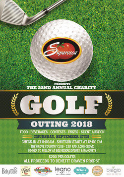 2018 Suparossa Charity Golf Outing Flyer