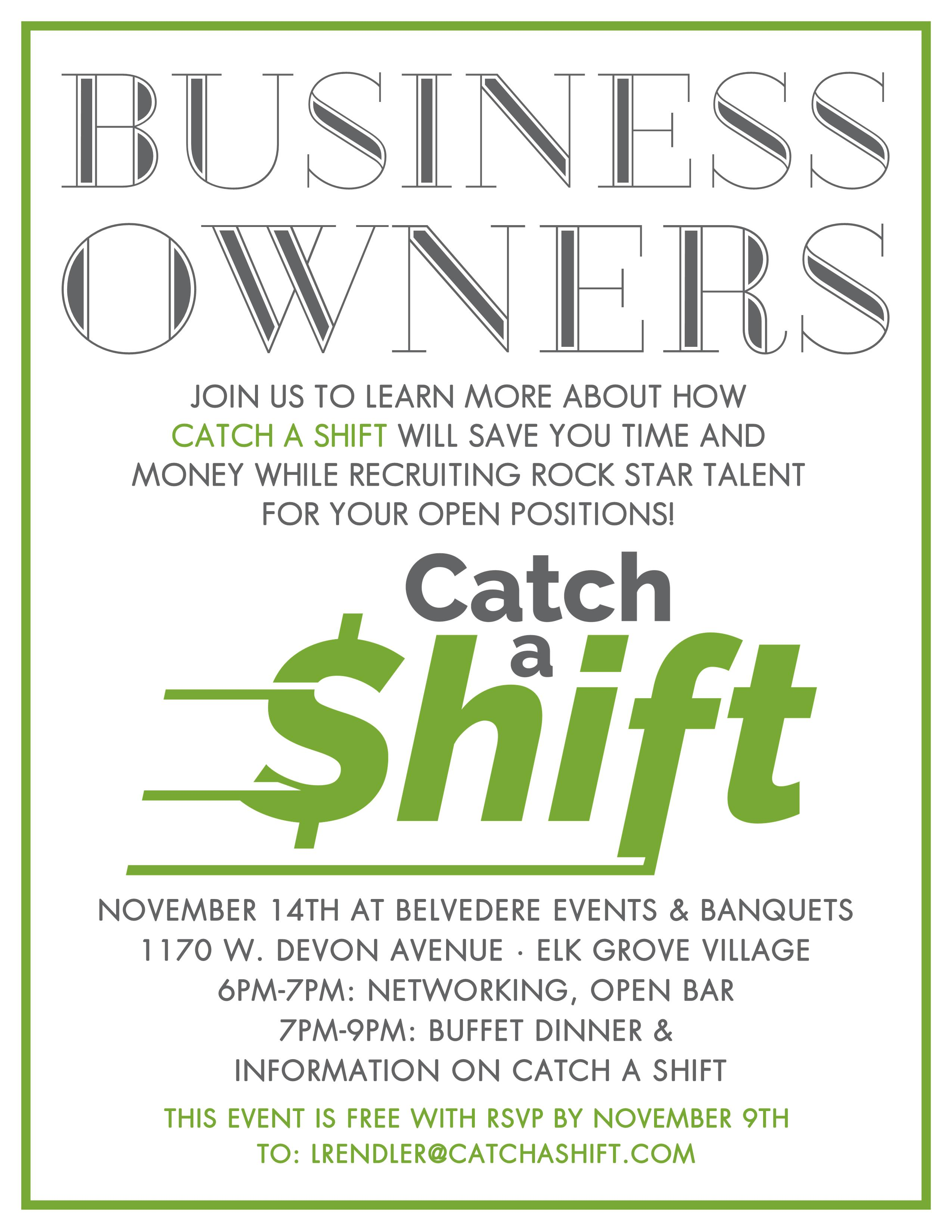 catch a shift promo 8.5x11 belvedere
