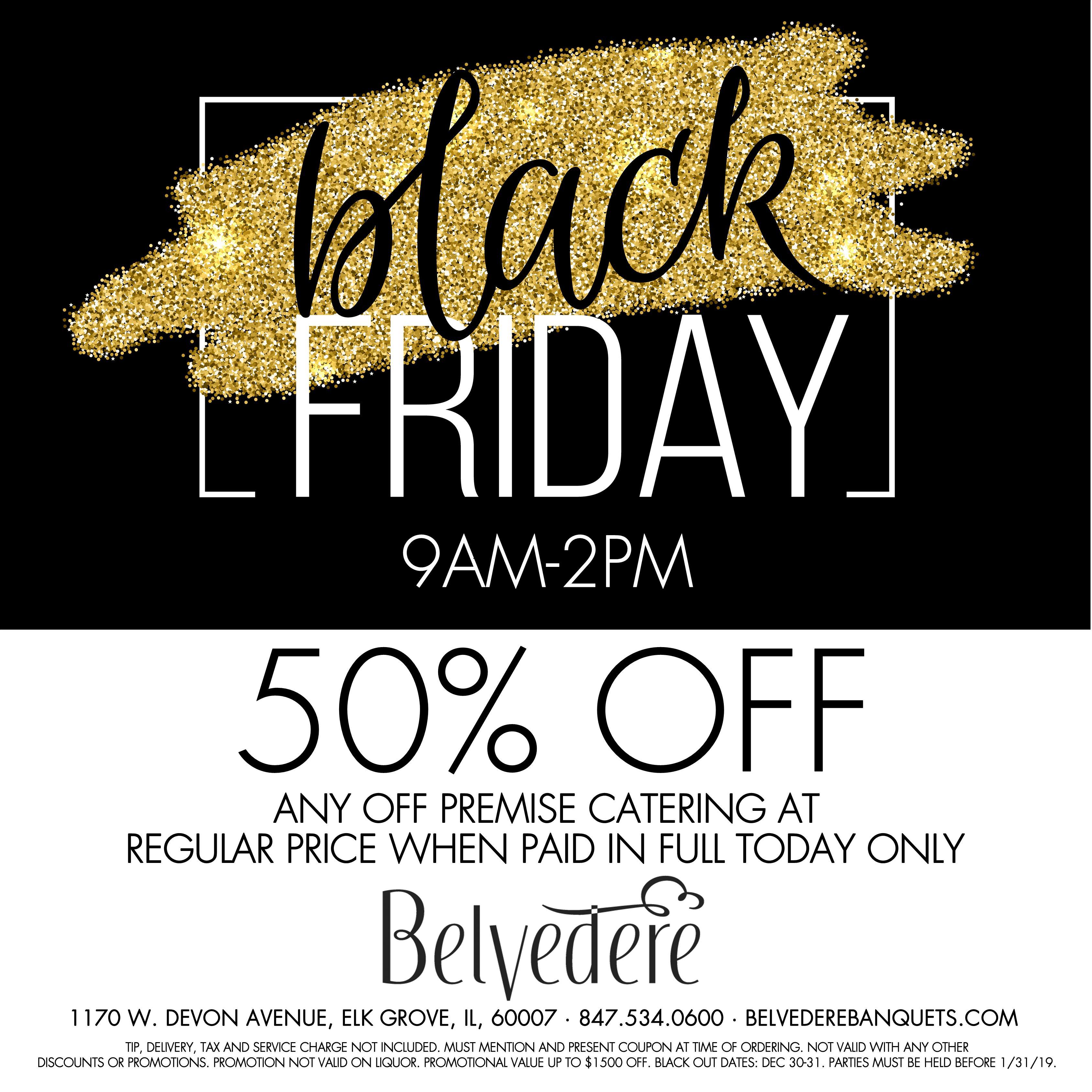 black friday belvedere
