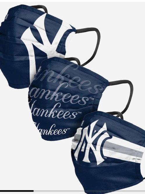 3-pack NY Yankees Face Masks