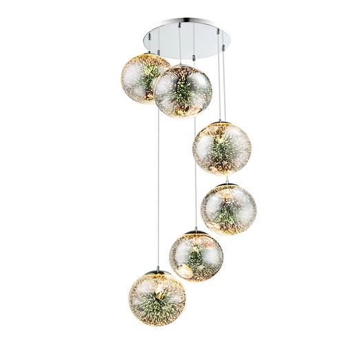 Globos 3D de 6 luces