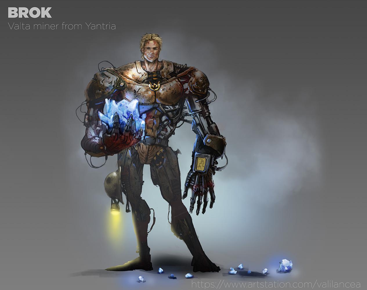 Brok_character vali lancea design