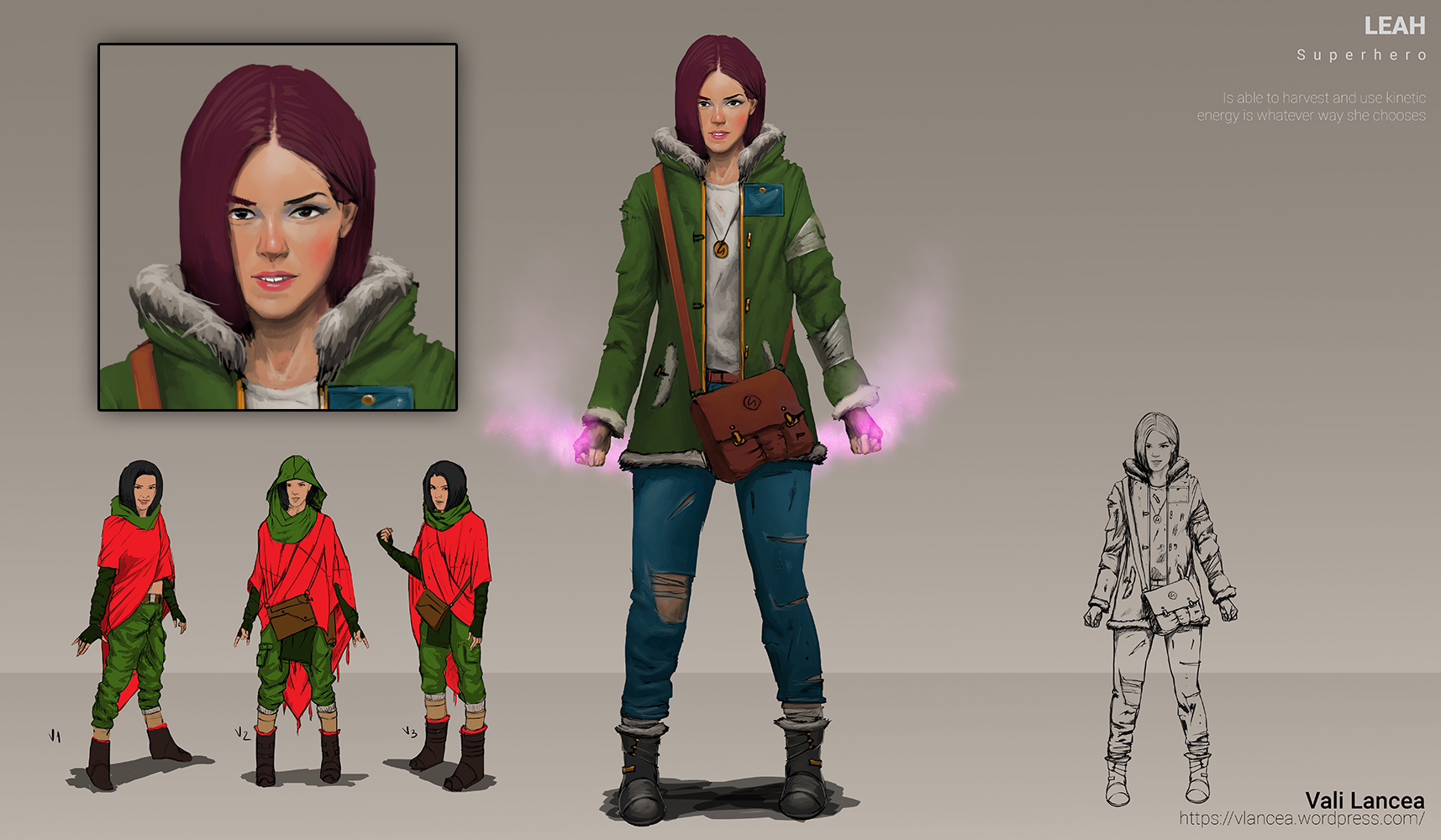 Leah sketches character concept