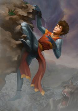 Sila climbing art character