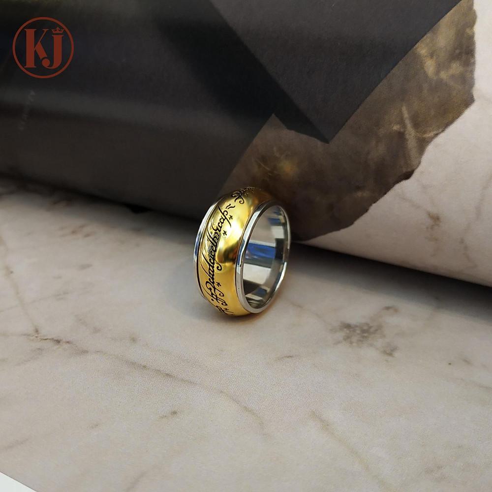Nhẫn nam phong cách Casual Chúa tể những chiếc nhẫn với những ký tự đặc biệt