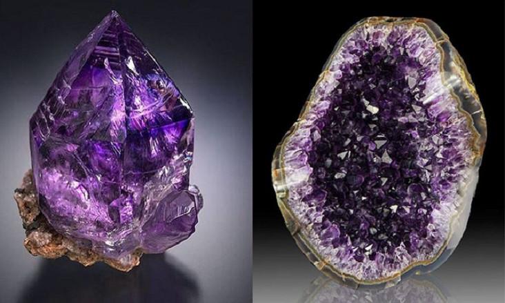 Đá thạch anh tím( Amethyst)- Một trong những biến thể đẹp nhất của Thach anh