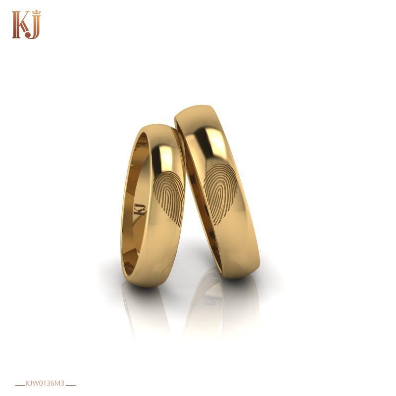 Nhẫn cưới độc lạ khắc dấu vân tay của hai người