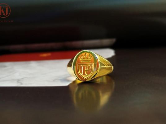 Bốn mẫu thiết kế nhẫn Signet P- King cho khách hàng Perdy Nguyễn ( Đà Lạt)