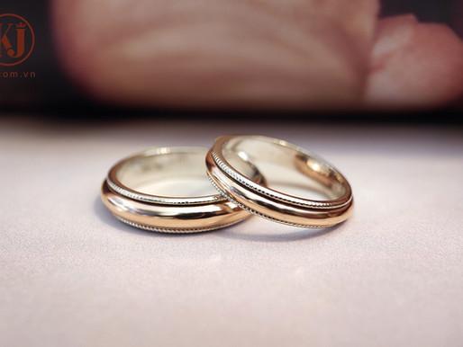 Nhẫn cưới trơn cho cặp đôi tối giản