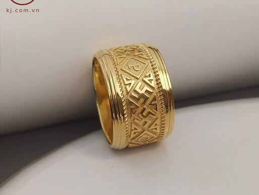 Nhẫn chữ Vạn ngón cái thiết kế riêng theo yêu cầu khách hàng Duy Phương ( Hà Nội)