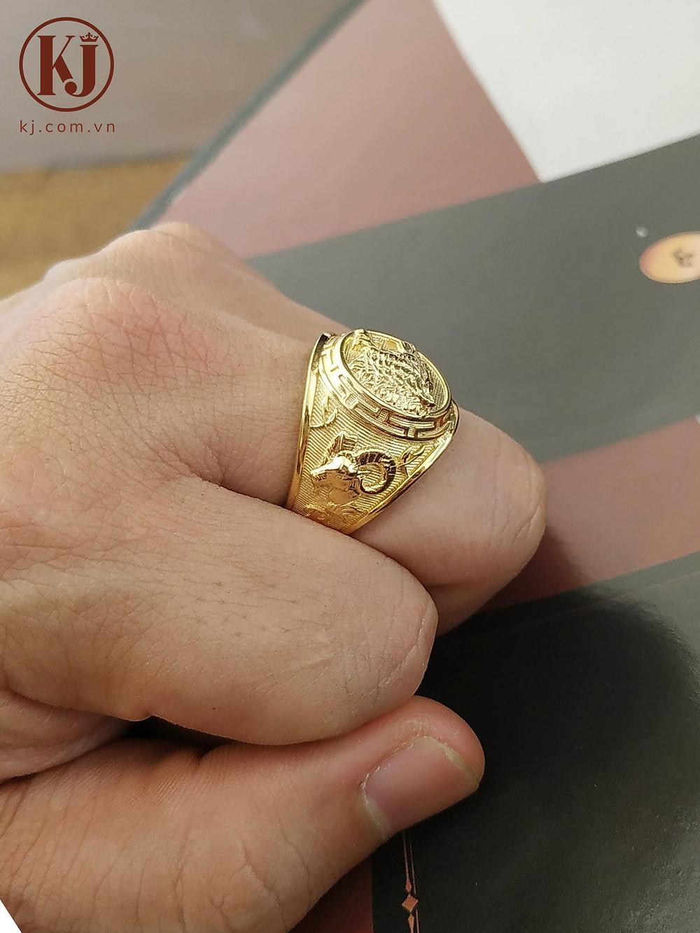 Nhẫn Mỹ họa tiết Hổ- Rồng- Dê