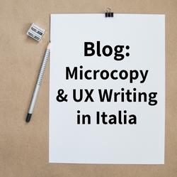 Microcopy & UX Writing Italia