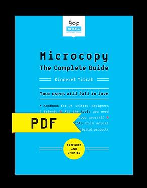 Microcopy: The Complete Guide | eBook (PDF)