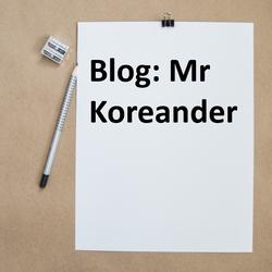Blog van Mr Koreander