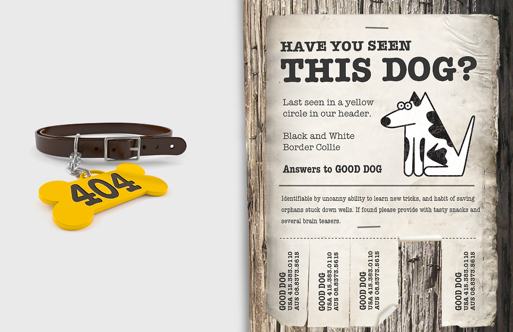 עמוד 404 שכולו תמונה אחת וטקסט שבכלל לא מסביר מה קרה