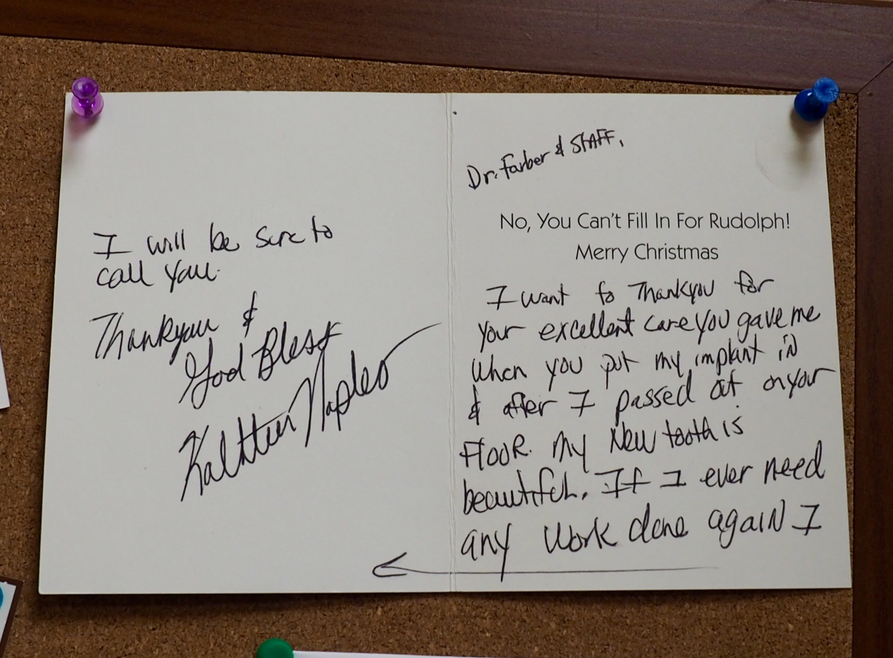 *Dr. Farber Thank You Card 1