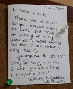 *Dr. Farber Thank You Card 5