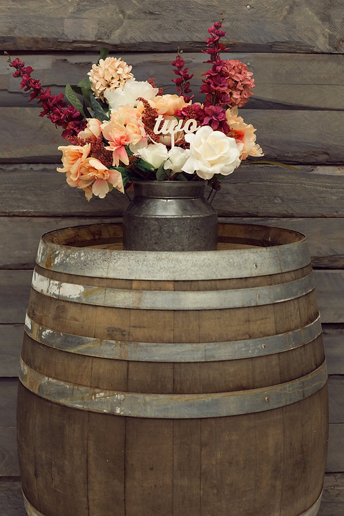 55 Gallon Wooden Wine Barrel