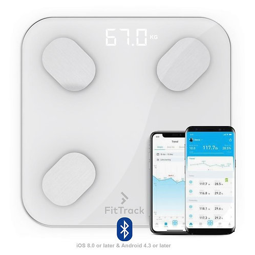 Bascula (Pesa) Inteligente Bluetooth con Aplicacion Mobil