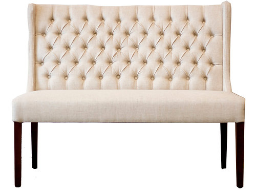 Tufted Bench - White