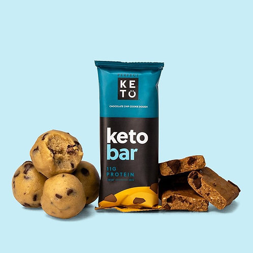 Barras Perfect Keto Galleta Sabor con chocolate caja por 12