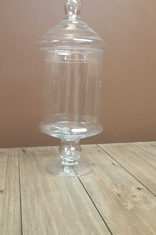 Apothecary Jar with Stem and Lid