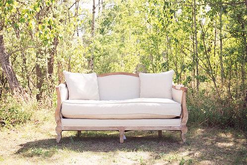 Cream and Oak Sofa