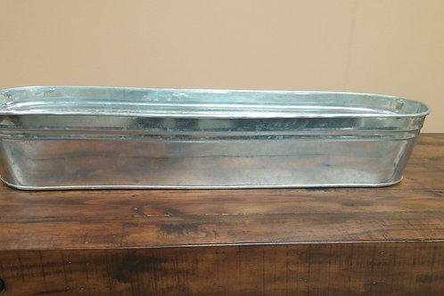 Long Oval Galvanized Steel Tub