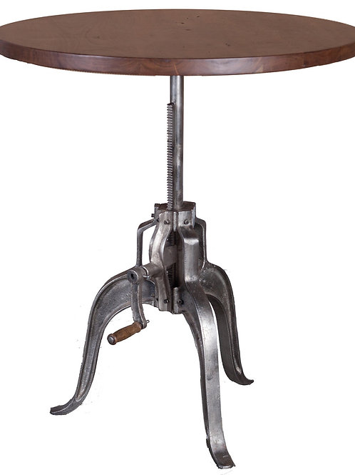 Crank Table - Solid Steel & Wood