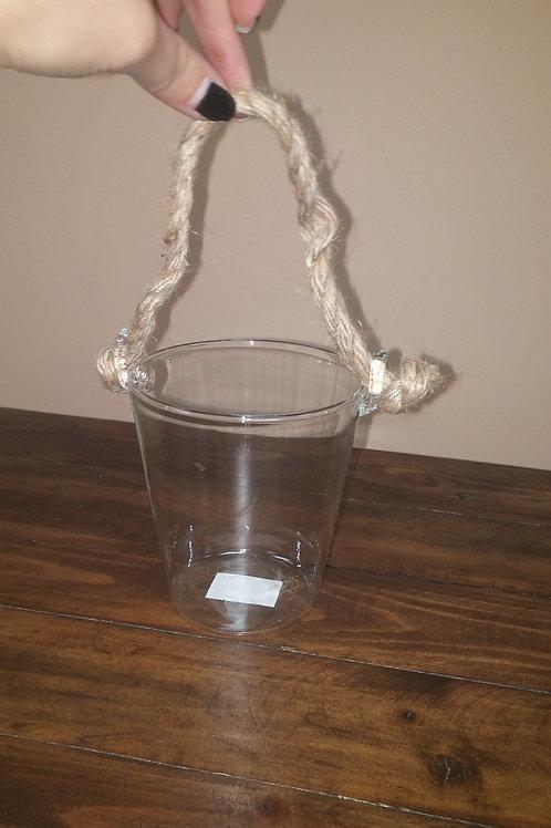 Clear Glass Bucket