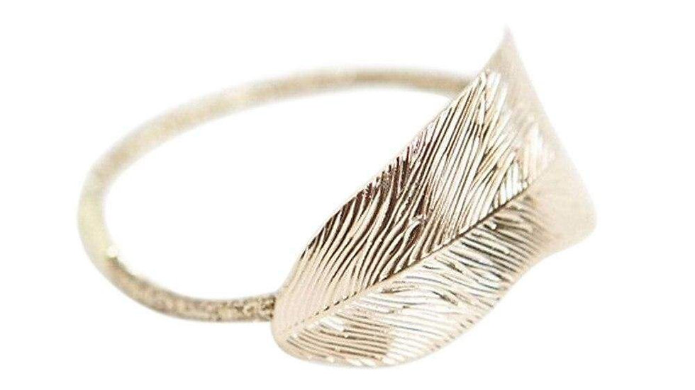 Leaf -Gold Hair Tie