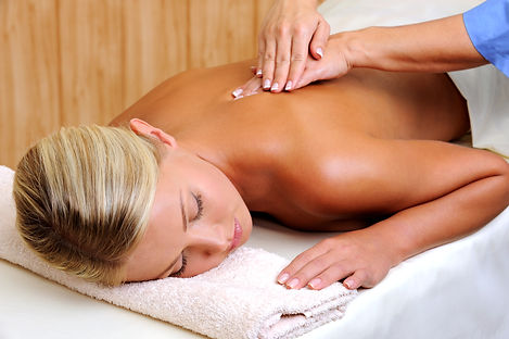 Relaxing massage for young woman in beau