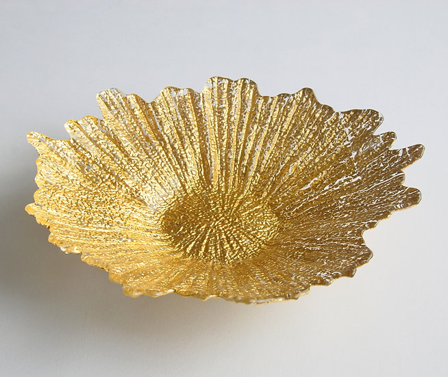"CORAL 16"" Gold Centerpiece Bowl"